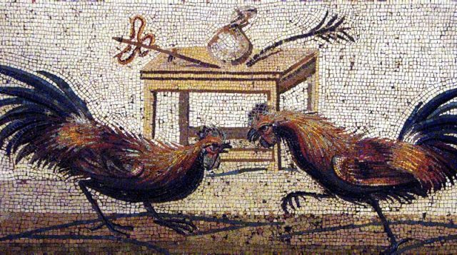 Roman mosaic from Pompeii, made around 1 AD.